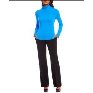 Alex Marie Teal Blue Cashmere Turtleneck Sweater